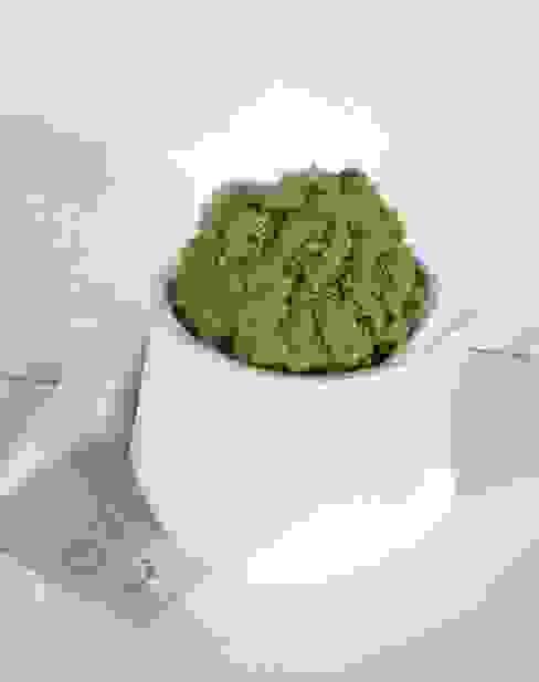 """Vaso """"Abbraccio"""" con sfera di licheni stabilizzati homify Paesaggio d'interni Ceramica Bianco"""