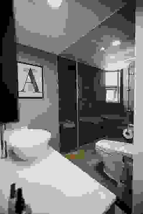 분당구 수내동 아파트 (before& after) : 샐러드보울 디자인 스튜디오의  욕실,모던