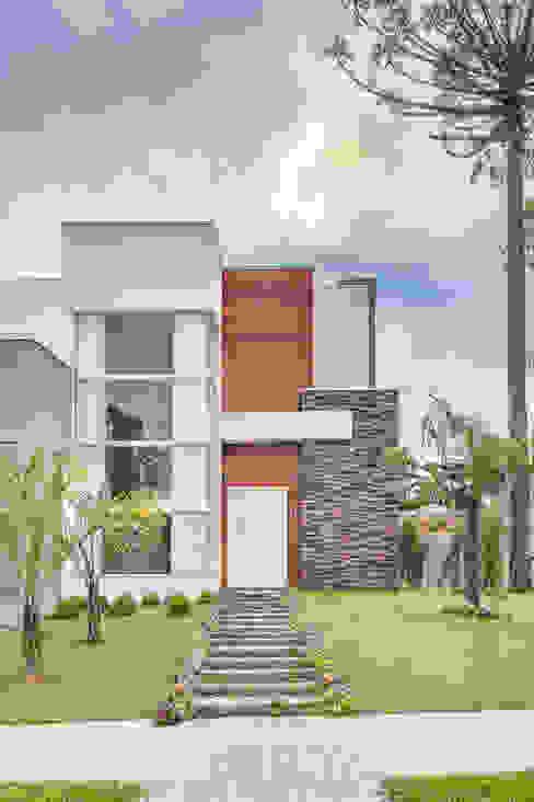 Casas de estilo  por Angelica Pecego Arquitetura, Moderno