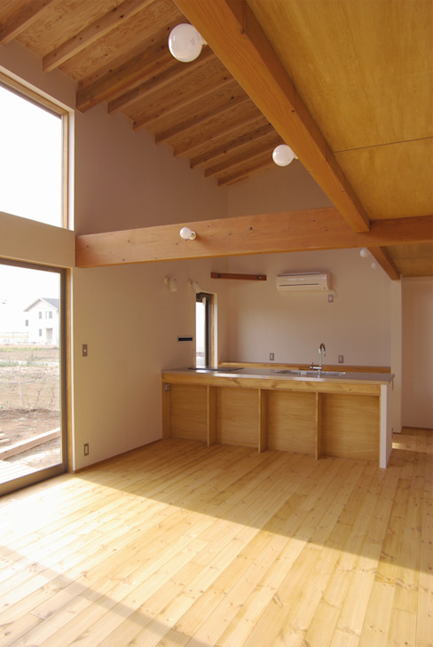環境創作室杉 Minimalist dining room Solid Wood