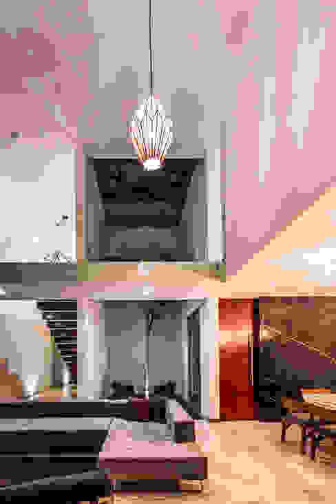 La Casa K27 Salones modernos de P11 ARQUITECTOS Moderno