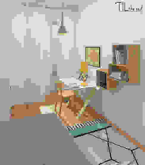 Phòng trẻ em phong cách Bắc Âu bởi Lagom studio Bắc Âu Gỗ Wood effect