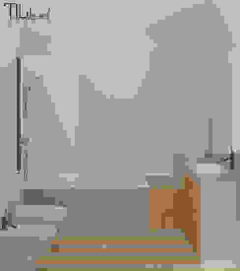 Phòng tắm phong cách Bắc Âu bởi Lagom studio Bắc Âu Bê tông