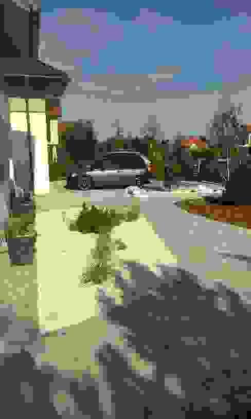 Jardines de estilo moderno de BioArt Ogrody, Architektura Krajobrazu Moderno Madera Acabado en madera