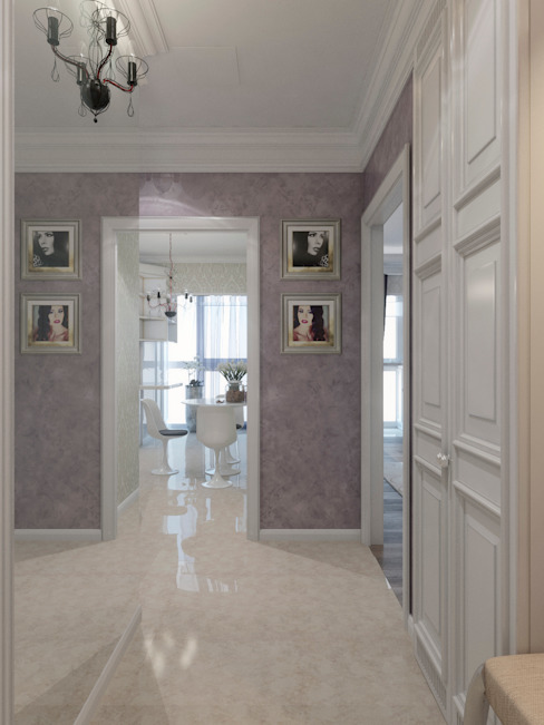 Classic style corridor, hallway and stairs by Студия дизайна интерьера Маши Марченко Classic