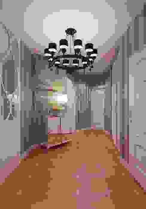 Pasillos, vestíbulos y escaleras minimalistas de Студия дизайна интерьера Маши Марченко Minimalista