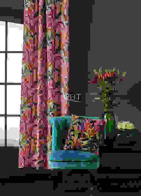 Floral Living - Vorhang und Kissen Moderne Wohnzimmer von Alfred Apelt GmbH Modern