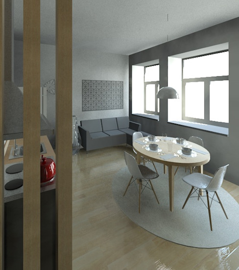 Sala e Kitchenette Salas de estar modernas por Marta d'Alte Arquitetura Moderno