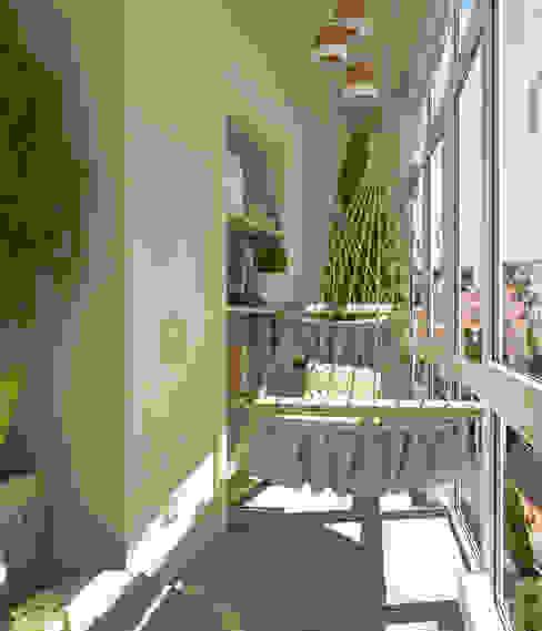 Balcones y terrazas mediterráneos de Студия дизайна Дарьи Одарюк Mediterráneo
