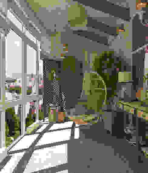 Terrace by Студия дизайна Дарьи Одарюк, Mediterranean