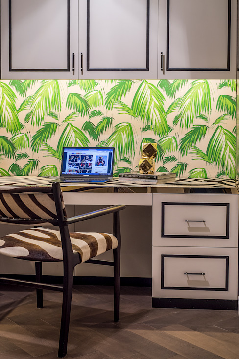 Maximalist Modern Modern Study Room and Home Office by Design Intervention Modern