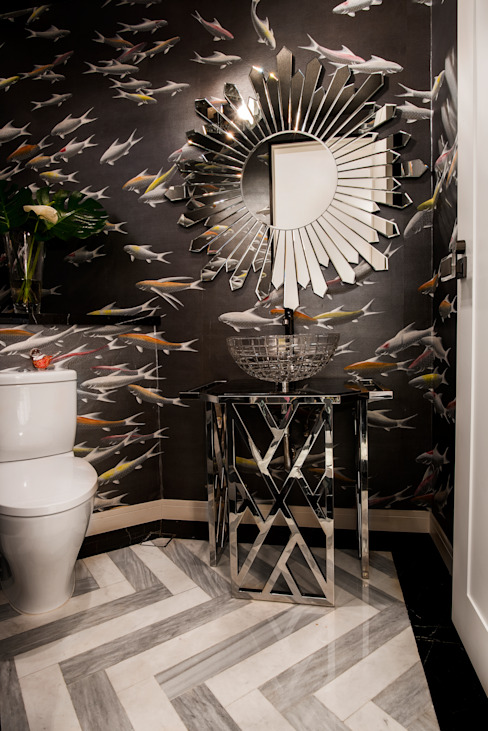 Maximalist Modern Modern bathroom by Design Intervention Modern