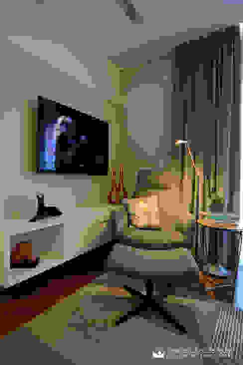 Habitaciones de estilo  por Tania Bertolucci  de Souza  |  Arquitetos Associados