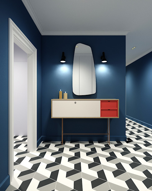 Studio 25 Scandinavian corridor, hallway & stairs Multicolored
