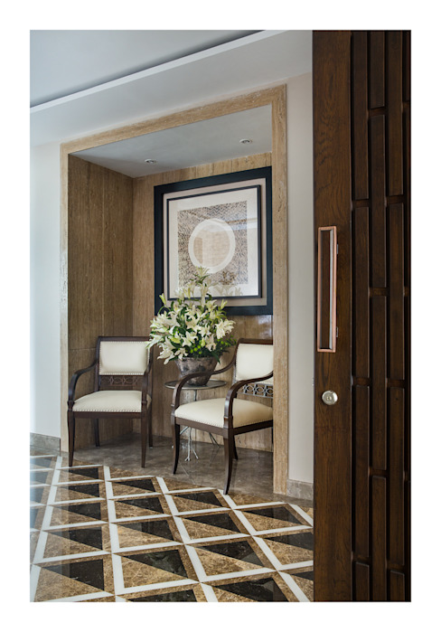 Apartment in Chennai Eclectic style corridor, hallway & stairs by Rakeshh Jeswaani Interior Architects Eclectic