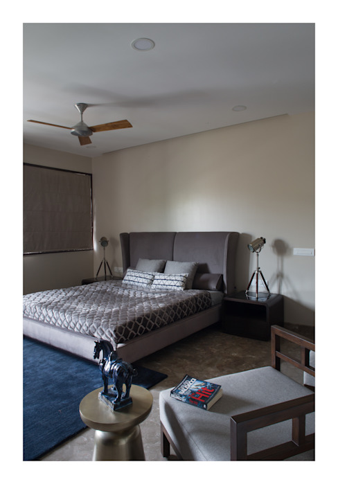 Apartment in Chennai Eclectic style bedroom by Rakeshh Jeswaani Interior Architects Eclectic
