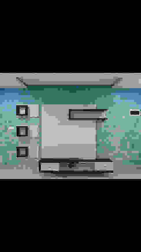 Customised Wallpaper C J Sheth & Co Tropical style living room