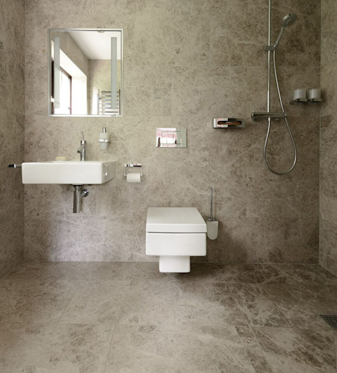 Baños de estilo  por Floors of Stone Ltd , Moderno Mármol