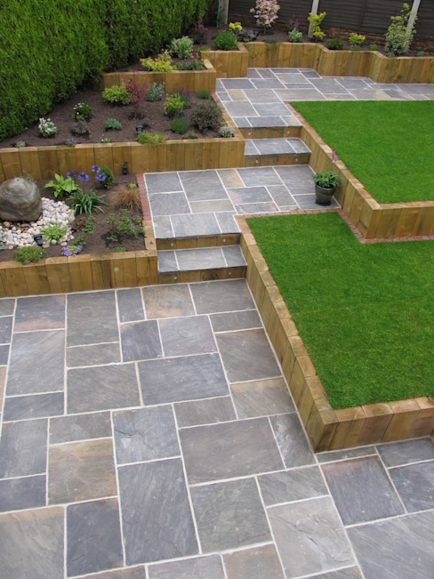 GALAXY SANDSTONE PAVING BARTON FIELDS PATIO & LANDSCAPE CENTRE Modern garden Sandstone Black