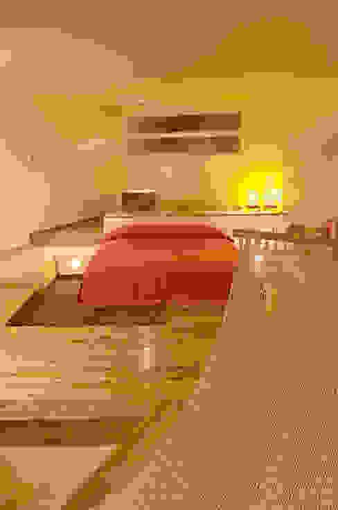 Hotel Pirámides Narvarte : Recámaras de estilo  por DIN Interiorismo , Moderno