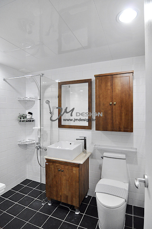 평촌현대홈타운33평 : JMdesign 의  욕실,