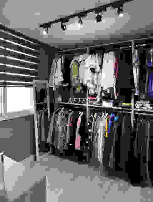 수원 정자동 한라비발디 27평: JMdesign 의  드레스 룸,모던
