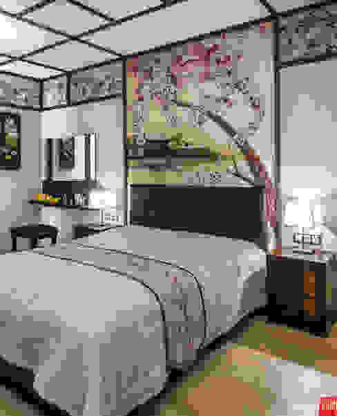 Квартира-путешествие.: Спальни в . Автор – Fusion Design, Азиатский