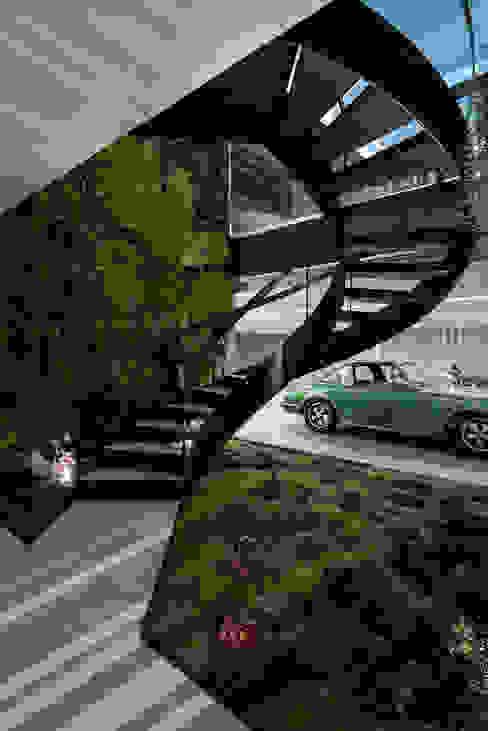 The Wall House Corredores, halls e escadas minimalistas por guedes cruz arquitectos Minimalista