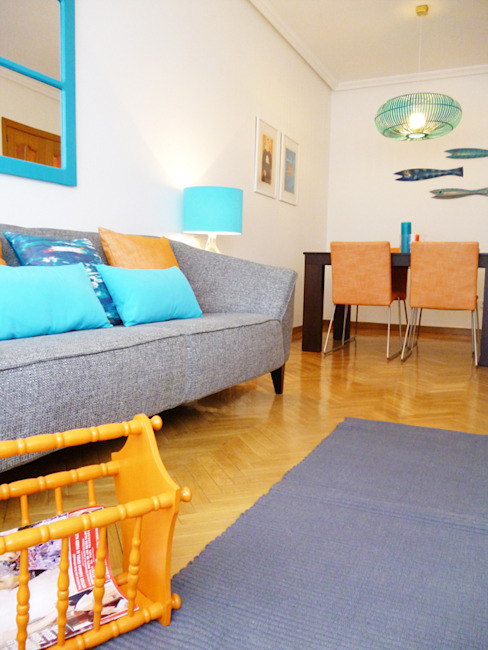 Sala comum homify Salas de estar mediterrânicas
