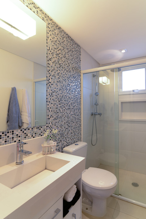 Projeto Bairro do Juventus - Mooca Banheiros modernos por RAFAEL SARDINHA ARQUITETURA E INTERIORES Moderno