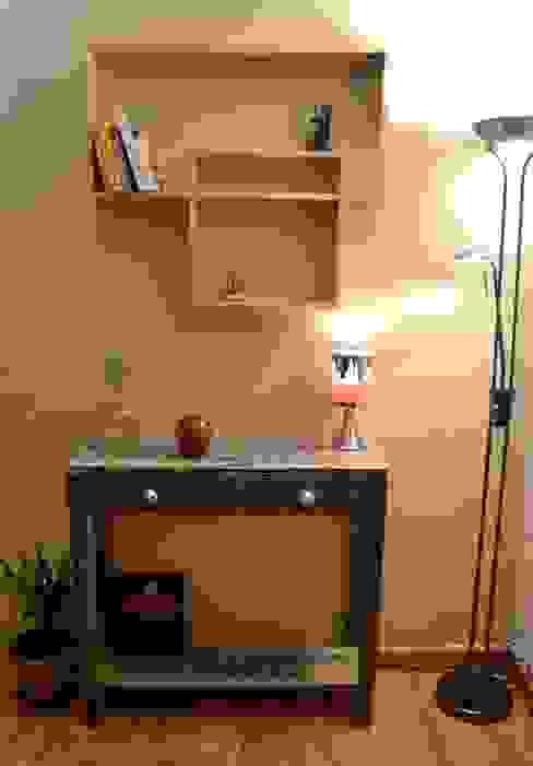 Console à tiroir bleue Paul H - Artéfacts SalonAccessoires & décorations Bois Bleu