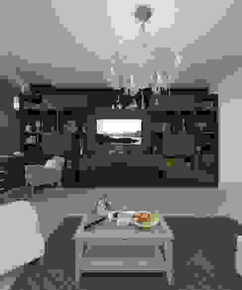 """Квартира 75 кв.м. в ЖК """"Кедровый"""" Гостиная в классическом стиле от Студия дизайна Виктории Силаевой Классический"""