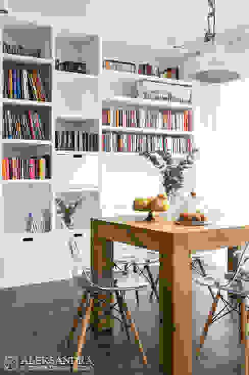 jadalnia: styl , w kategorii Jadalnia zaprojektowany przez ALEKSANDRA interior design studio,Eklektyczny