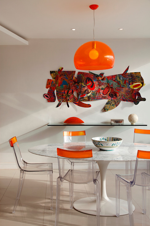 Salle à manger moderne par Carlos Salles Arquitetura e Interiores Moderne