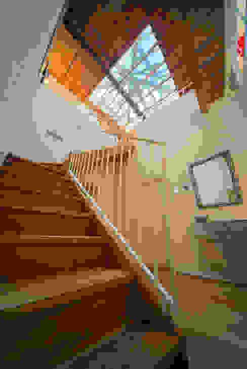 Pasillos, vestíbulos y escaleras de estilo moderno de studiodonizelli Moderno Madera Acabado en madera