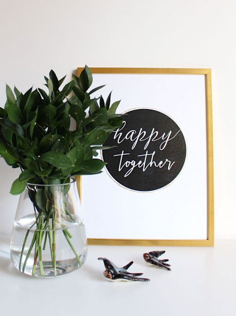 Happy together por homify Minimalista Papel