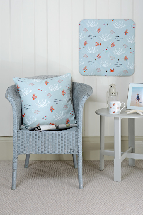Sophie Allport 'What a catch!' Homewares: country  by Sophie Allport, Country Cotton Red