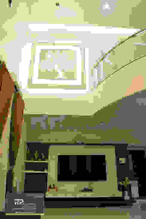 Mr Suhas Ranavde Banglow Project Modern corridor, hallway & stairs by RP Design Studio Modern