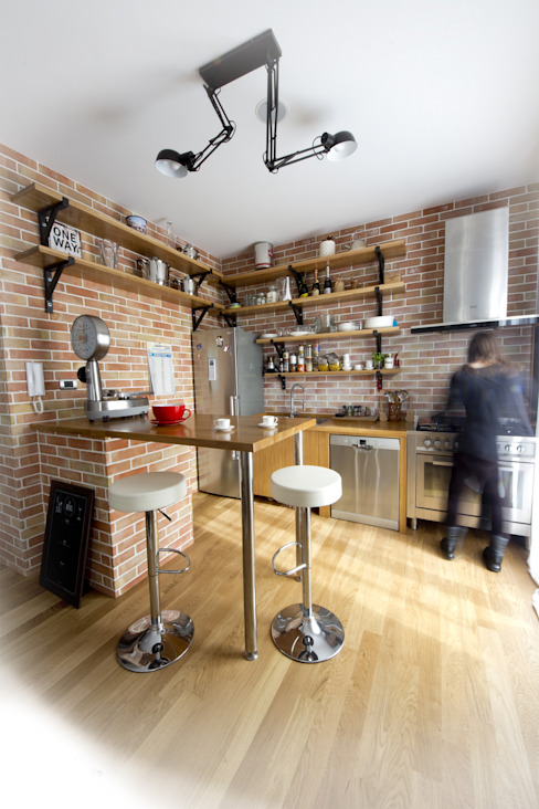 Industrial style kitchen by Salvo Lombardo Architetto Industrial Wood Wood effect