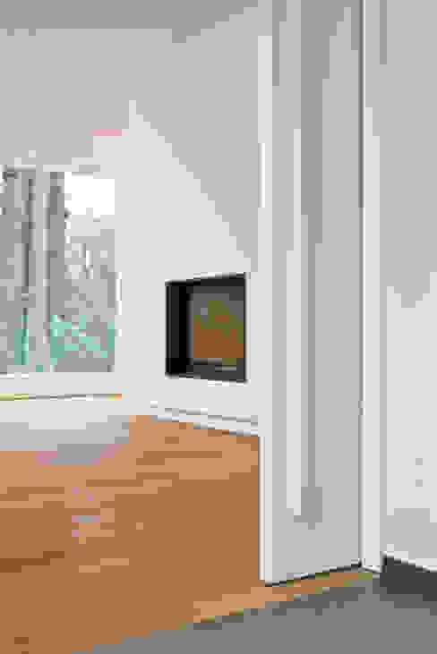 Einfamilienhaus Neubau Beilstein Innenarchitektur Minimalistische Wohnzimmer Holz
