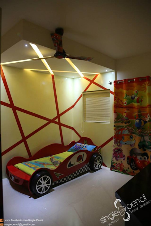 kishore residence Modern nursery/kids room by single pencil architects & interior designers Modern