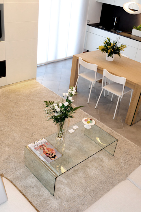 Area living tea.rchitettura Soggiorno minimalista