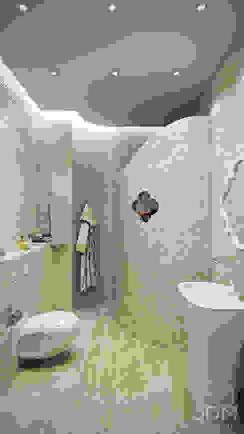 미니멀리스트 욕실 by студия визуализации и дизайна интерьера '3dm2' 미니멀