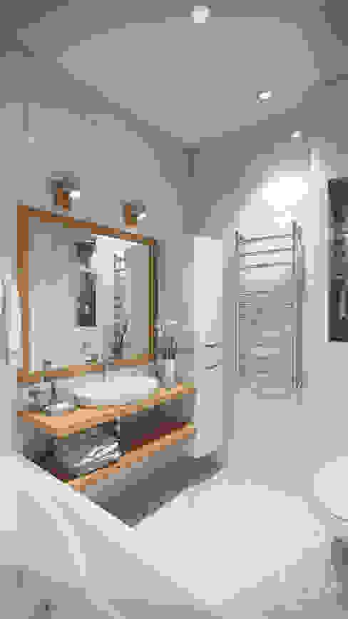 스칸디나비아 욕실 by студия визуализации и дизайна интерьера '3dm2' 북유럽