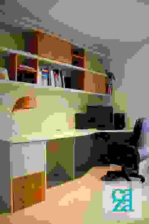 DEPARTAMENTO Y ATELIER: Estudios y oficinas de estilo  por caza Studio,Clásico