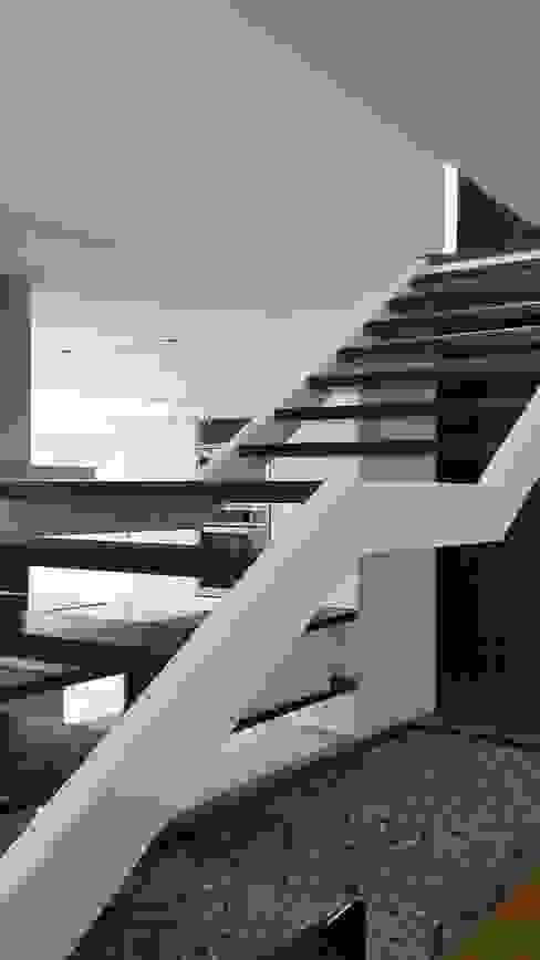 Hugo Pereira Arquitetos Minimalist corridor, hallway & stairs
