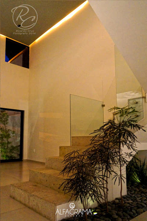 Recibidor Pasillos, vestíbulos y escaleras modernos de Alfagrama estudio Moderno