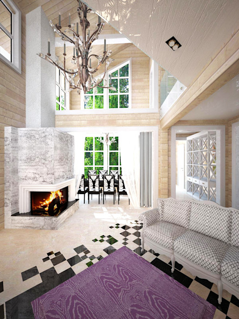 Classic style living room by Helen-Design Classic