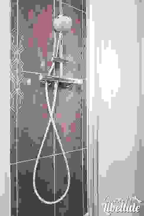 Douche faïence purple Salle de bain moderne par Carnets Libellule Moderne