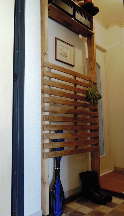 玄関収納: ブログdeソーイングが手掛けた素朴なです。,ラスティック